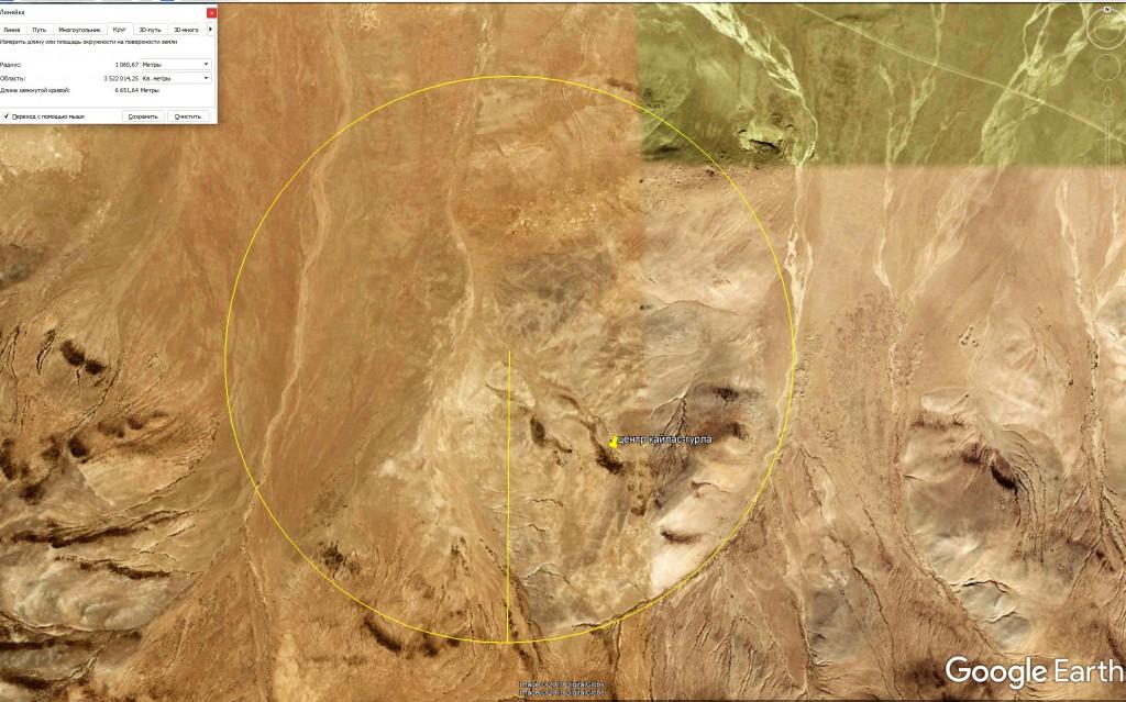 Рельефный геоглиф в регионе Кайласа